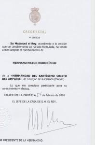 Credencial SM El Rey
