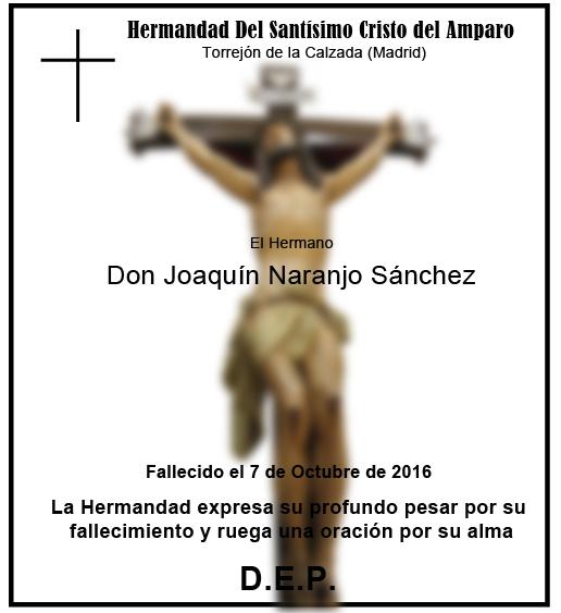Fallecimiento de nuestro Hermano Antonio Rodríguez Paredes